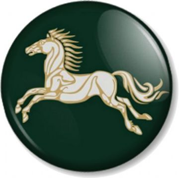 Kingdom of Rohan Horse Pinback Button Badge Hobbit JRR Tolkien Lord Of The Rings